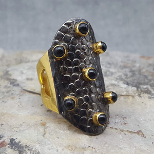 WARRIOR BLACK ONYX RING