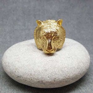 GOLDEN TIGER STEEL RING