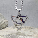 CELTIC MEDALLION OF STEEL NECKLACE