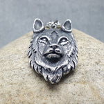 THE WOLF OF STEEL SILVER NECKLACE