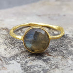 ROSES LABRADORITE GOLD RING