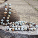 AMAZONITE FROSTED MATTE NECKLACE