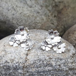 MARGARITA SILVER  LEAVES STUD EARRINGS