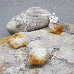 RAW CITRINE QUARTZ NECKLACE