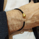 MATCH BLACK AND GOLD BRACELET