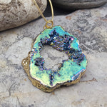 RAW NATURAL TITANIUM QUARTZ NECKLACE