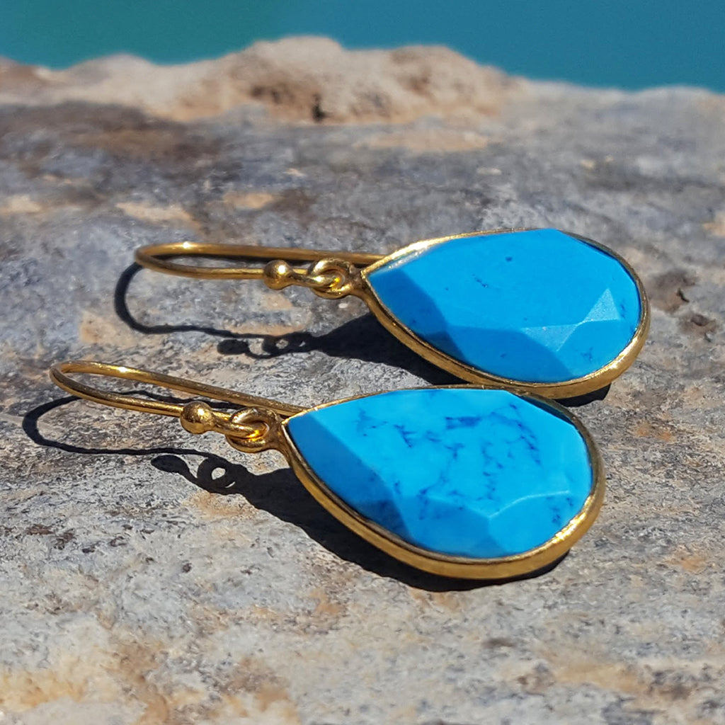 GOTA DE ORO TURQUOISE HOOK EARRINGS
