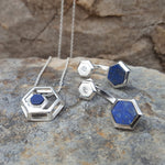 ROCK HEXAGON LAPIS LAZULI CHAIN NECKLACE