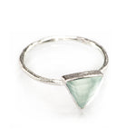 ARROW AQUA CHALCEDONY SILVER RING