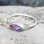 LILLY AMETHYST SILVER RING