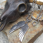 WINGS OF STEEL NECKLACE