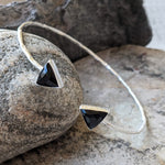 ARROW BLACK ONYX SILVER BRACELET