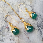 TULY GREEN ONYX GOLD NECKLACE