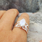 DRAGON EYE MOONSTONE SILVER RING