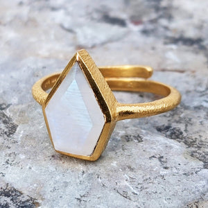 LARA MOONSTONE GOLD RING
