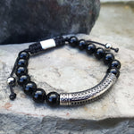 TRIBAL BLACK ONYX BEAD BRACELET
