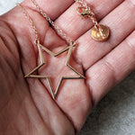STAR ROSE GOLD NECKLACE