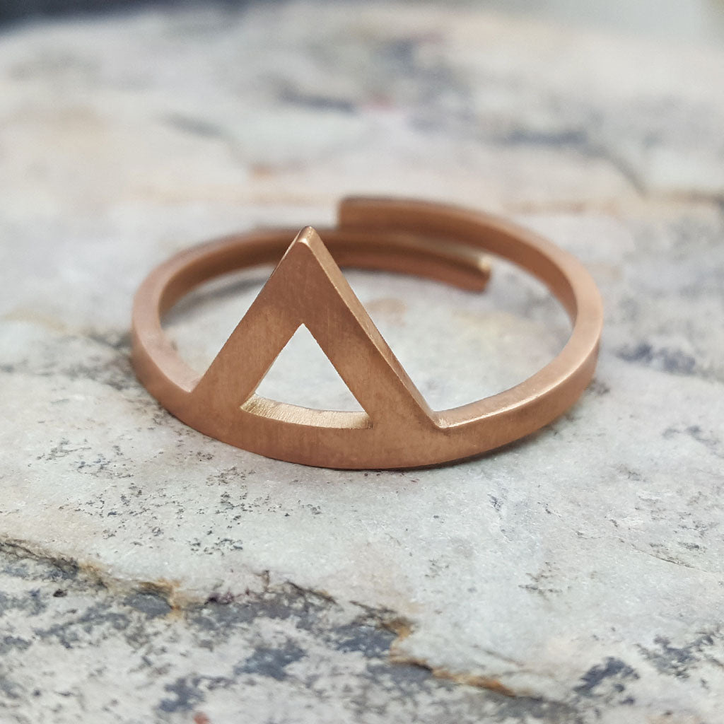 SARAH TRIANGLE ADJUSTABLE ROSE GOLD RING