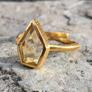 LARA CITRINE GOLD RING