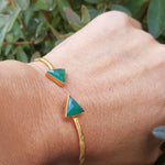 ARROW GREEN ONYX GOLD BRACELET