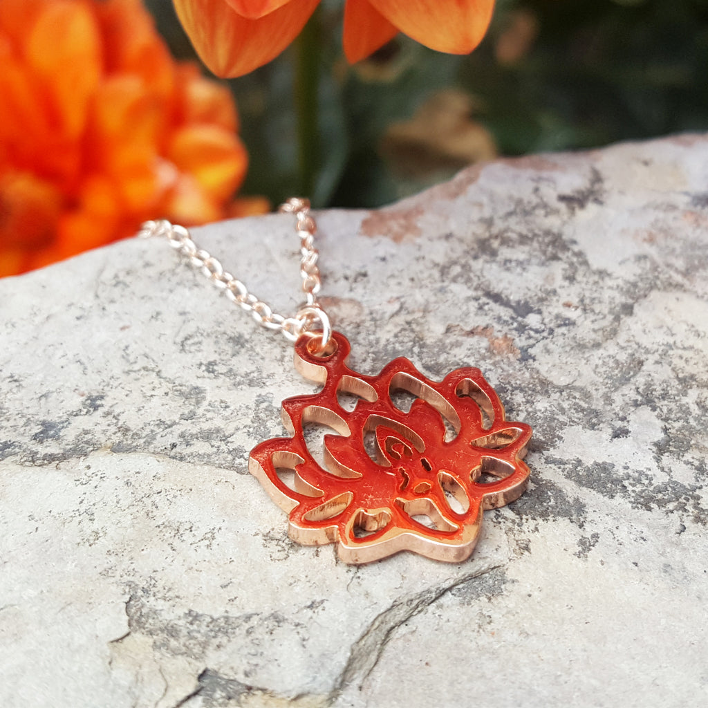 LOTUS ROSE GOLD NECKLACE