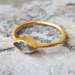 LILLY LABRADORITE GOLD RING