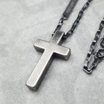UNLIMITED CROSS OXIDIZED NECKLACE