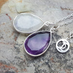 TEARS OF KALI AMETHYST AND MOONSTONE SET SILVER