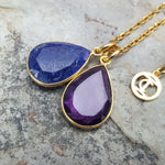 TEARS OF KALI LAPIS LAZULI AND AMETHYST SET GOLD