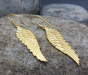 PEGASUS WINGS GOLD EARRINGS