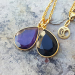 TEARS OF KALI BLACK ONYX AND AMETHYST SET GOLD