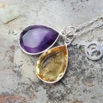 TEARS OF KALI AMETHYST AND CITRINE SET SILVER OR GOLD