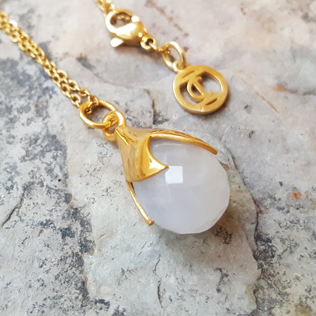 TULY MOONSTONE GOLD NECKLACE