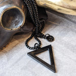 MAXIMO TRIANGLE BLACK STEEL NECKLACE