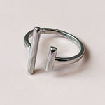 BEA BARS ADJUSTABLE SILVER RING
