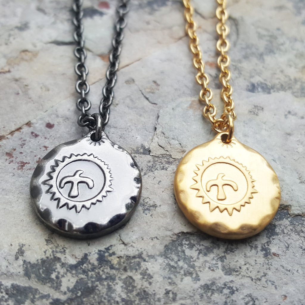EAGLE SPIRIT GOLD NECKLACE