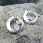 CHERRY PINK CHALCEDONY SILVER EARRINGS