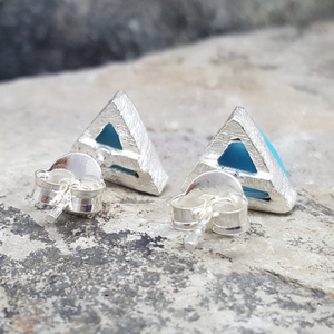 ARROW TURQUOISE SILVER STUD EARRINGS