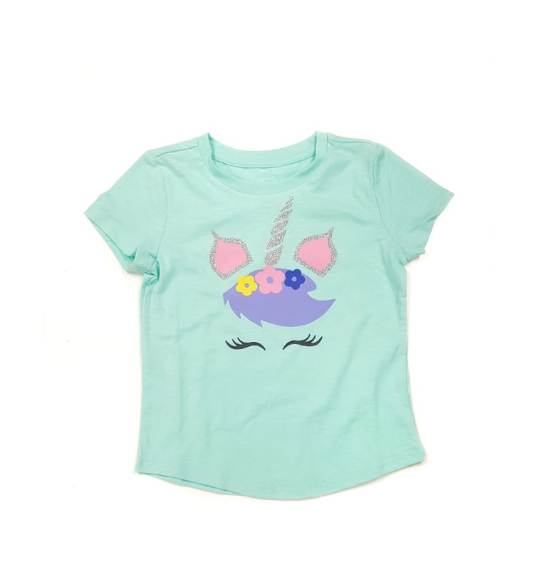 Glitter Unicorn - Mint Tee