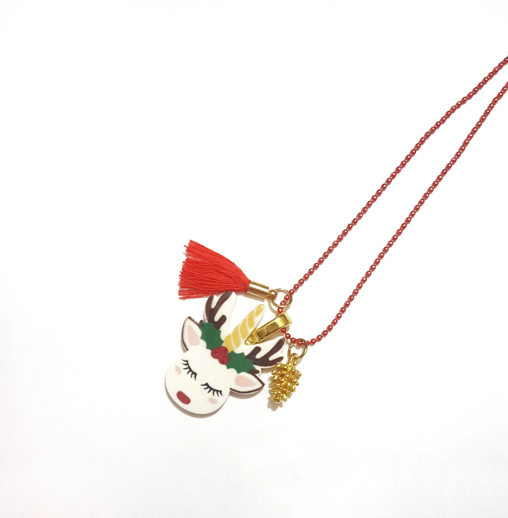 Unicorn Reindeer Necklace