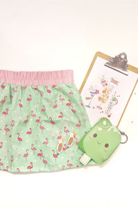 Flamingos Summer Skirt