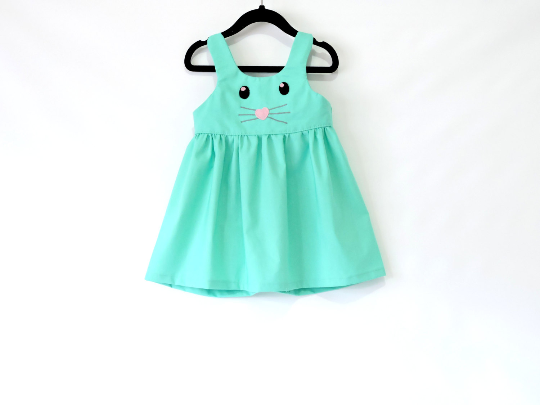 Bunny Girl Dress - Toddler Dress - Easter dress - Baby Girl - Spring Dress - Baby Girl Easter Outfit - Baby Dress - Toddler Easter Dress