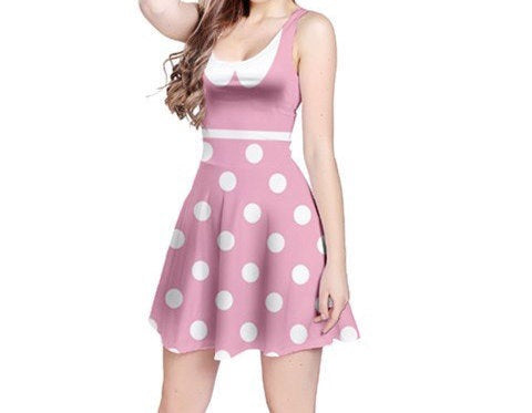 Adult Minnie Mouse Costume - Pink
