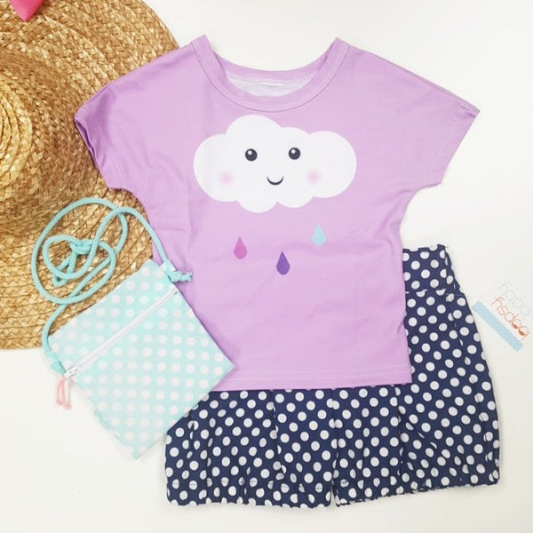 Happy Cloud Pink Tee