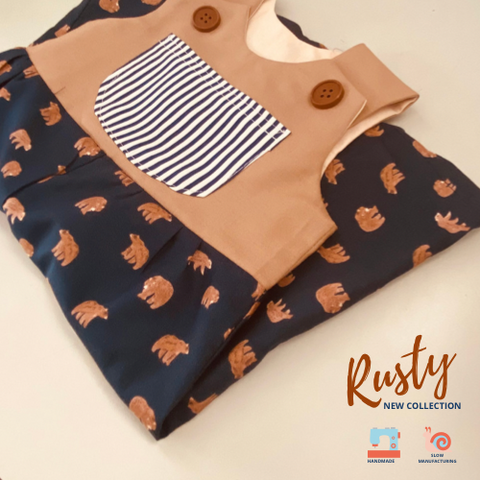 Bears Romper for Boy - Rusty Collection