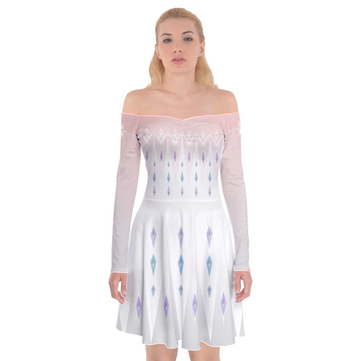 Frozen Elsa White Dress