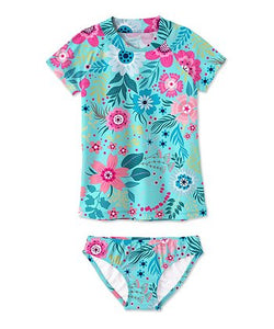 Turquoise Floral Swimsuit