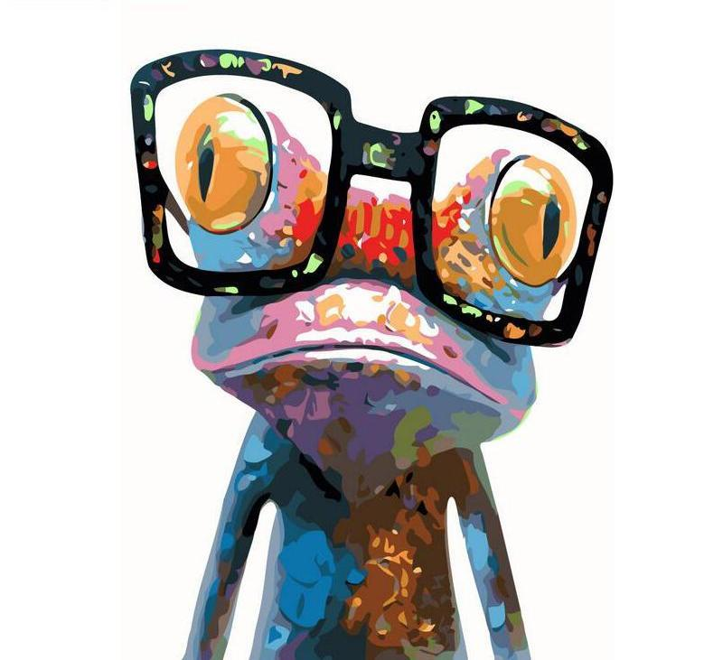 Nerdy Frog Vinci™ Paint-By-Number Kit