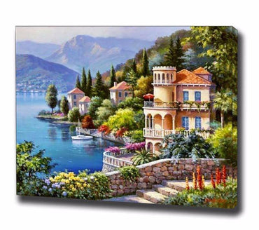 Lakeside Landscape Vinci™ Paint-By-Number Kit