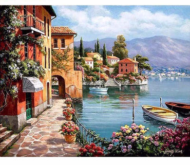 Romantic Harbor Vinci™ Paint-By-Number Kit